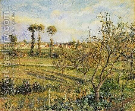 Sunset at Valhermeil, near Pontoise by Camille Pissarro - Reproduction Oil Painting