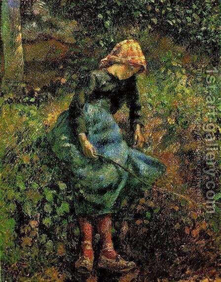 The Shepherdess by Camille Pissarro - Reproduction Oil Painting
