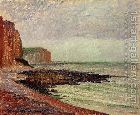 Cliffs at Petit Dalles by Camille Pissarro - Reproduction Oil Painting