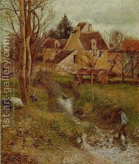The Brook at Osny by Camille Pissarro - Reproduction Oil Painting