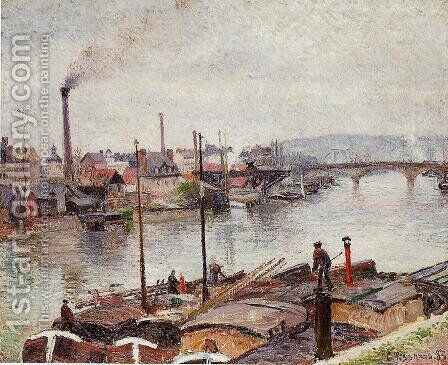 The Port of Rouen I by Camille Pissarro - Reproduction Oil Painting