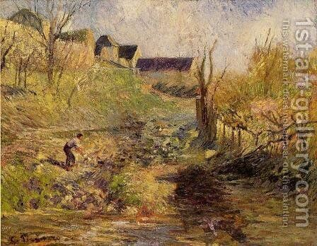 Landscape at Osny I by Camille Pissarro - Reproduction Oil Painting