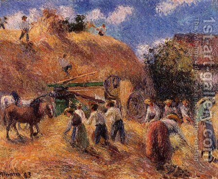 Harvest by Camille Pissarro - Reproduction Oil Painting