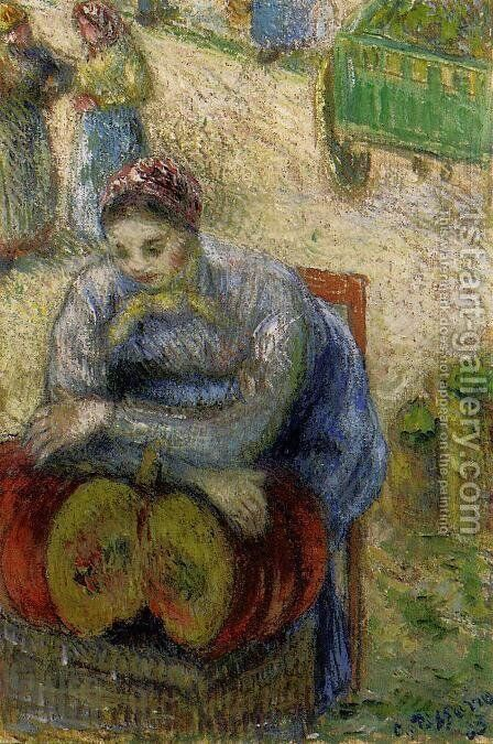Pumpkin Merchant by Camille Pissarro - Reproduction Oil Painting