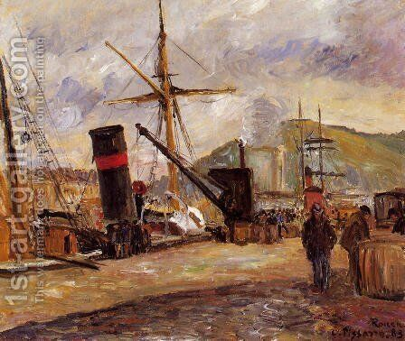 Steamboats by Camille Pissarro - Reproduction Oil Painting