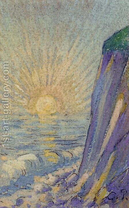Sunrise on the Sea by Camille Pissarro - Reproduction Oil Painting