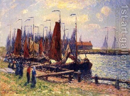The Port of Volendam by Henri Moret - Reproduction Oil Painting