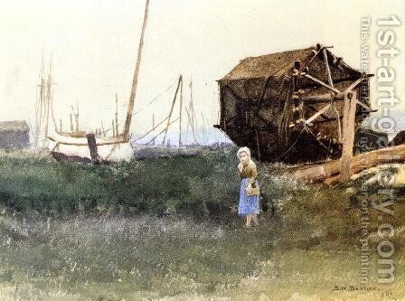 The Fisher Girl, Nantucket by Dennis Miller Bunker - Reproduction Oil Painting