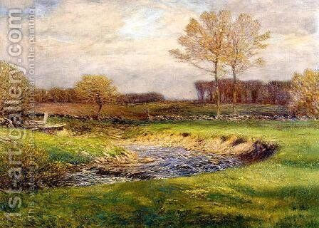 The Brook in May by Dwight William Tryon - Reproduction Oil Painting