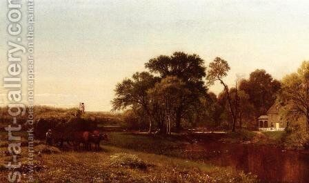 The Hay Wain, Granby, Connecticut by Aaron Draper Shattuck - Reproduction Oil Painting