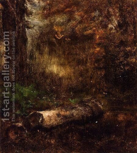 The Log by George Inness - Reproduction Oil Painting