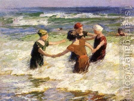 A Happy Group by Edward Henry Potthast - Reproduction Oil Painting