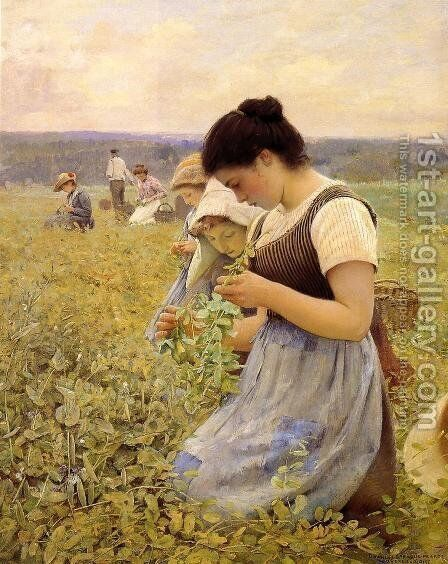 Women in the Fields by Charles Sprague Pearce - Reproduction Oil Painting