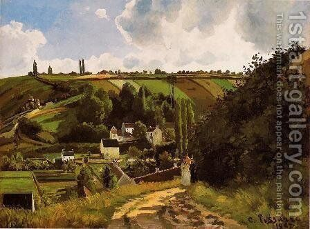 The Jallais Hills, Pontoise by Camille Pissarro - Reproduction Oil Painting