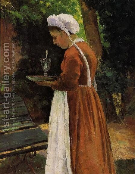 The Maidservant by Camille Pissarro - Reproduction Oil Painting