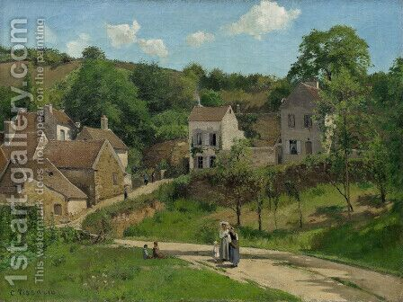 L'Hermitage at Pontoise by Camille Pissarro - Reproduction Oil Painting