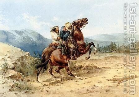 The Attack by Herman Wendleborg Hansen - Reproduction Oil Painting