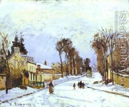 The Road to Versailles at Louveciennes I by Camille Pissarro - Reproduction Oil Painting