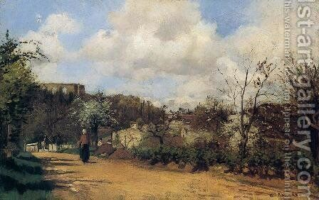 Springtime in Louveciennes by Camille Pissarro - Reproduction Oil Painting