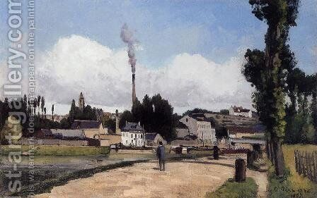 By the Oise at Pontoise by Camille Pissarro - Reproduction Oil Painting