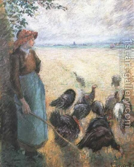 Turkey Girl by Camille Pissarro - Reproduction Oil Painting