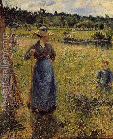 The Tedder by Camille Pissarro - Reproduction Oil Painting