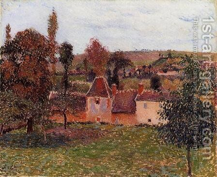 Farm at Basincourt by Camille Pissarro - Reproduction Oil Painting
