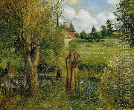 The Banks of the Epte at Eragny by Camille Pissarro - Reproduction Oil Painting