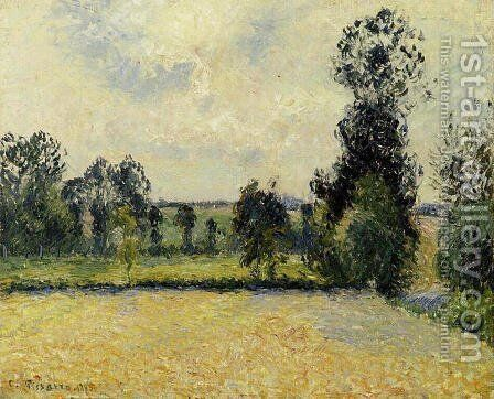 Field of Oats in Eragny by Camille Pissarro - Reproduction Oil Painting