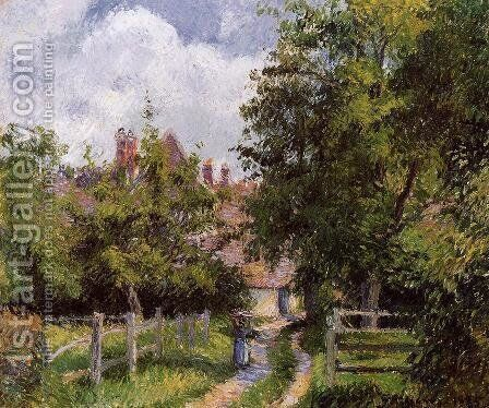 Saint-Martin, near Gisors by Camille Pissarro - Reproduction Oil Painting