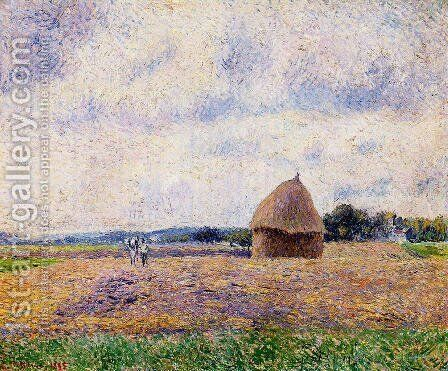 Haystack: Eragny by Camille Pissarro - Reproduction Oil Painting