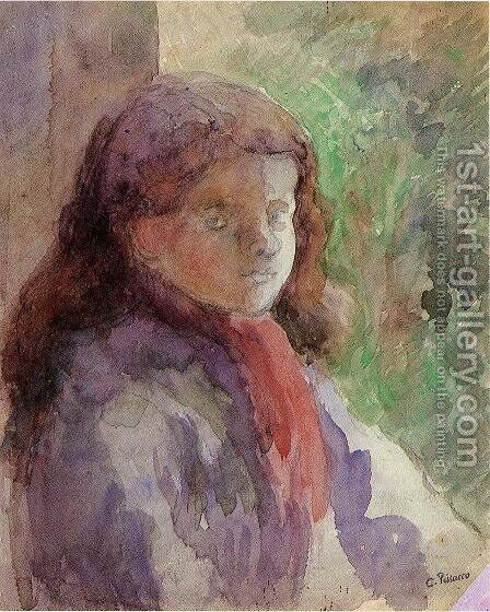Portrait of the Artist's Son, Ludovic-Rololphe by Camille Pissarro - Reproduction Oil Painting