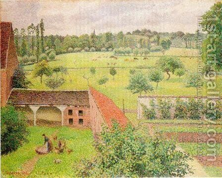 View from My Window, Eragny by Camille Pissarro - Reproduction Oil Painting