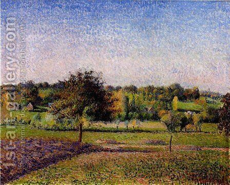 Meadows at Eragny by Camille Pissarro - Reproduction Oil Painting