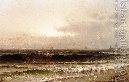 Distant Beacon by Alfred Thompson Bricher - Reproduction Oil Painting