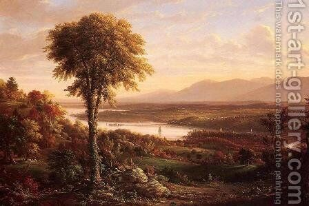 View of the Catskills from the South side of Mount Merino by Henry Ary - Reproduction Oil Painting