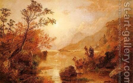 Autumn in the Highlands of the Hudson by Jasper Francis Cropsey - Reproduction Oil Painting