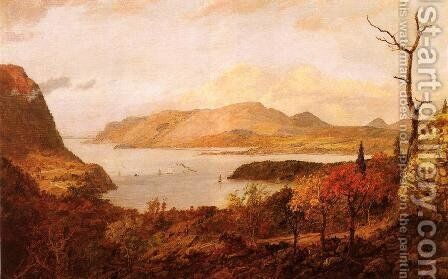 The Hudson River from Fort Putnam, near West Point by Jasper Francis Cropsey - Reproduction Oil Painting