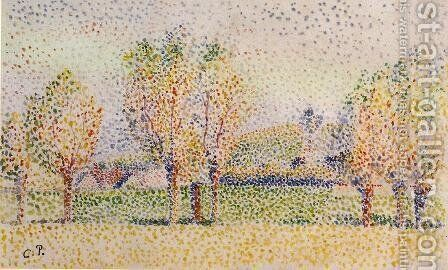 Eragny Landscape I by Camille Pissarro - Reproduction Oil Painting
