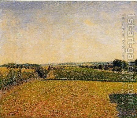 Railroad to Dieppe by Camille Pissarro - Reproduction Oil Painting