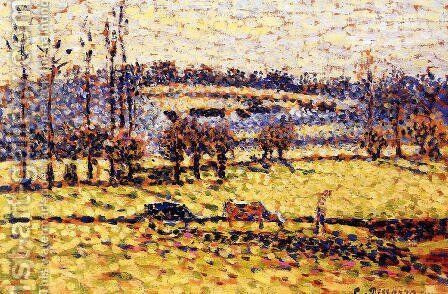 Meadow at Bazincourt I by Camille Pissarro - Reproduction Oil Painting