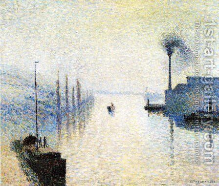 Ile Lacruix, Rouen: Effect of Fog by Camille Pissarro - Reproduction Oil Painting