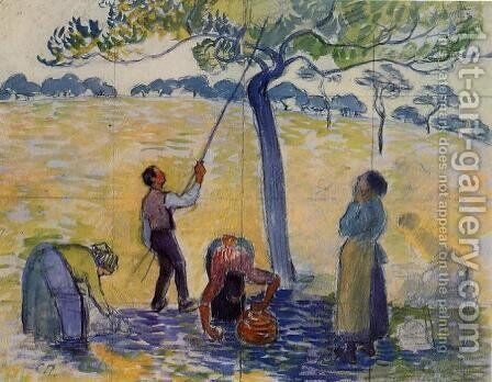 Picking Apples by Camille Pissarro - Reproduction Oil Painting