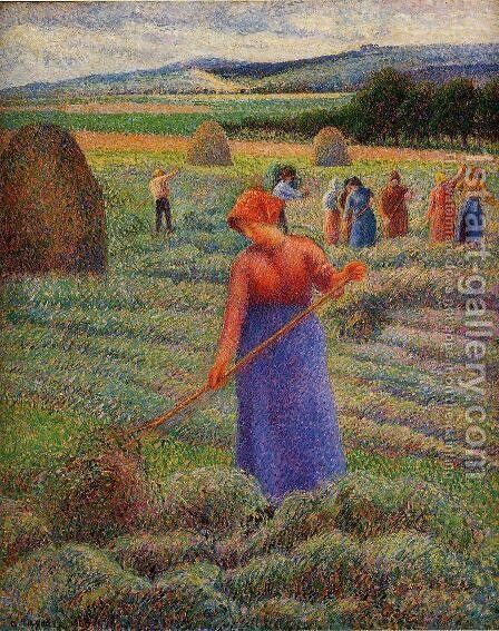 Haymakers at Eragny by Camille Pissarro - Reproduction Oil Painting