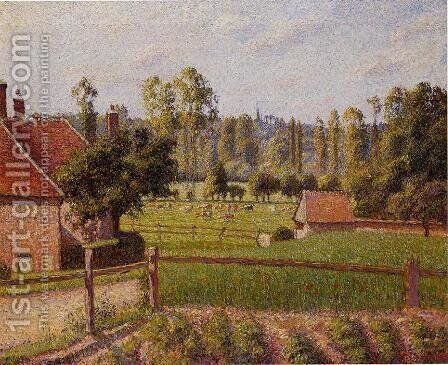 A Meadow in Eragny by Camille Pissarro - Reproduction Oil Painting