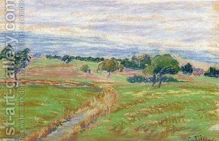 The Hills of Thierceville by Camille Pissarro - Reproduction Oil Painting