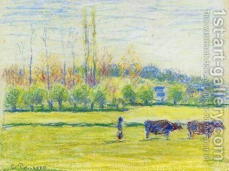 Near Eragny by Camille Pissarro - Reproduction Oil Painting