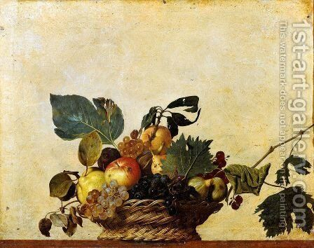 Fruit basket by Caravaggio - Reproduction Oil Painting