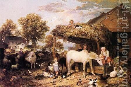 At Home on the Farm by Jasper John - Reproduction Oil Painting