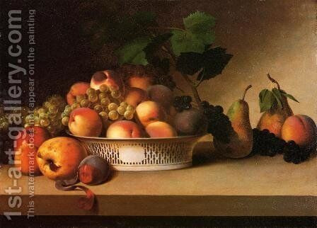 An Abundance of Fruit by James Peale - Reproduction Oil Painting